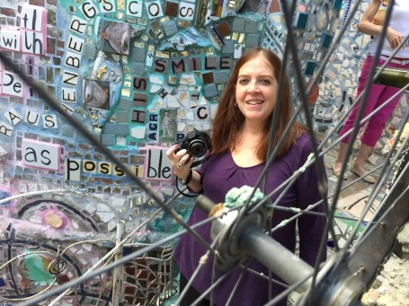 philatravelgirl at the Magic Garden in Philly