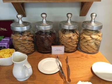 British Airways lounge Manchester cookie jar