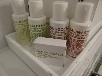 Malin & Goetz toiletries Great Northern Hotel London