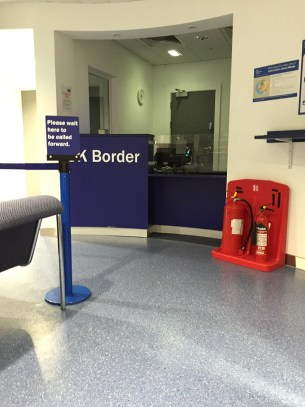 Connecting in Manchester Border Control