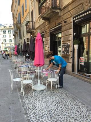 Milan Navigli dining al fresco