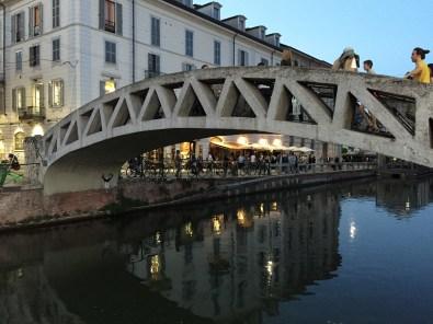 Milan Bridge over Canal in Navigli