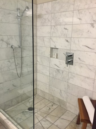 Shower at Eventi Hotel NYC