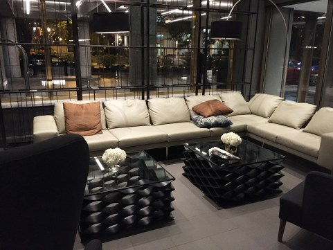 The Logan Hotel lobby seating area