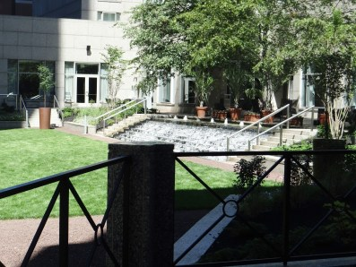 The Logan Hotel outdoor patio and courtyard