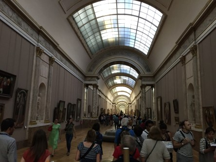 Mona Lisa Louvre hallway of art
