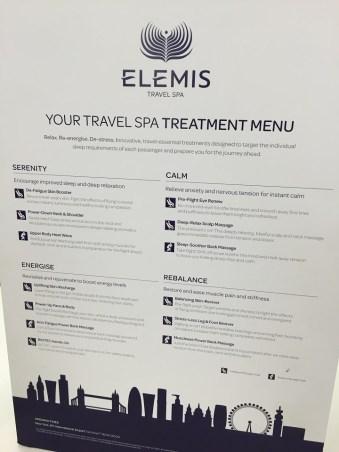 Elemis Spa at British Airways JFK lounge