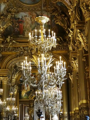 Paris Opera Tour chandeliers