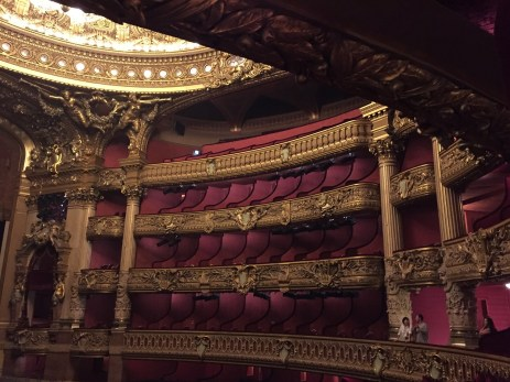Paris Opera Tour upper level seating