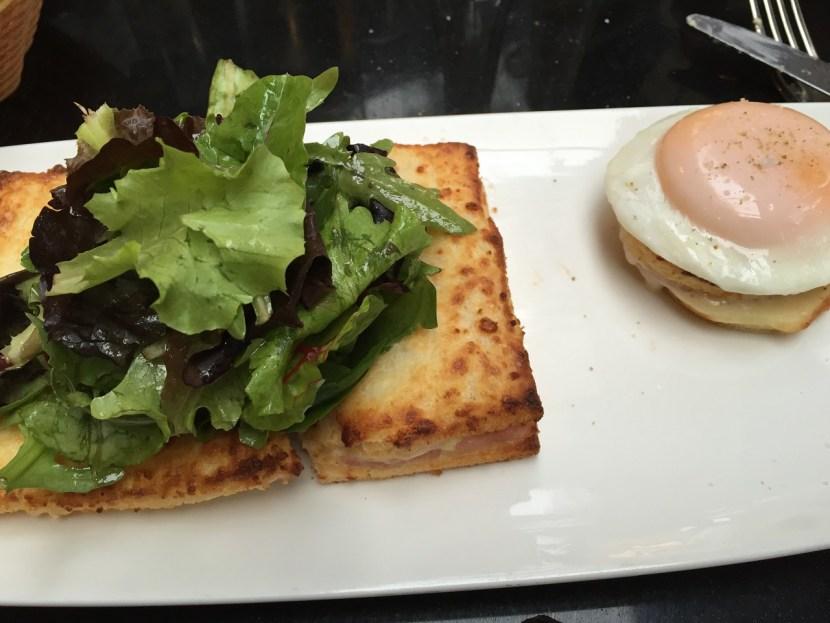 Paris Cafe Croque Madame Ham Cheese Egg Sandwich