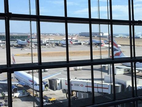 Plane spotting Heathrow Concorde Room lounge