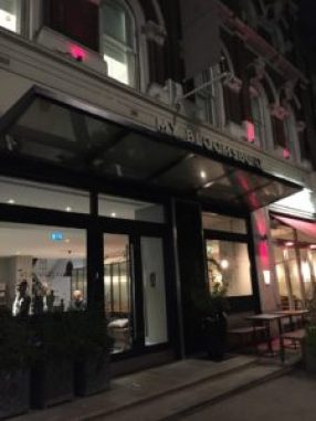 My Bloomsbury Hotel entrance