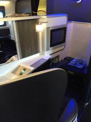 British Airways First Class center seating