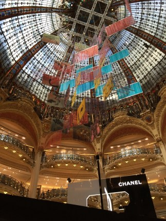 Galleries Lafayette Paris Stained Glass Ceiling