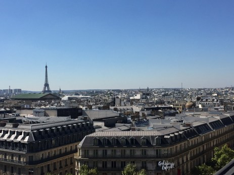 Galleries Lafayette Rooftop La Terrasse view of Paris