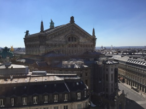 Paris Opera view from Galleries Lafayette rooftop