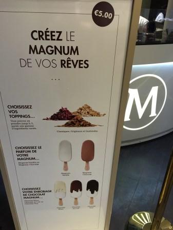 Magnum Paris Ice Cream Steps