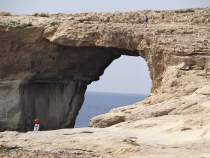 The Azure Window People on top
