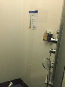 BA Arrivals Lounge T5 Shower at Heathrow