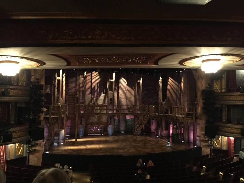 One ticket to Hamilton orchestra view of stage