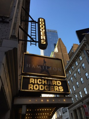 One ticket to Hamilton at the Richard Rodgers theatre NYC