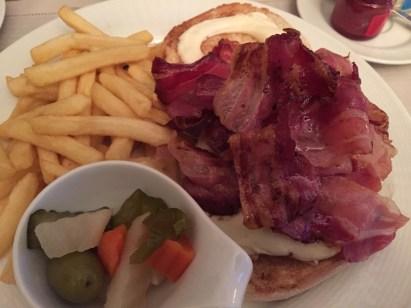 Westin Milan room service burger