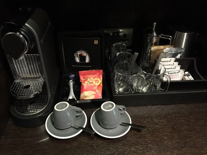 The Ampersand Hotel coffee tea in room