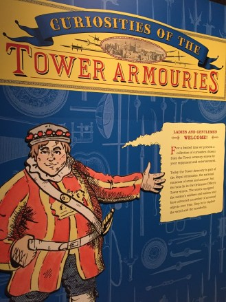 Tower of London tour signage
