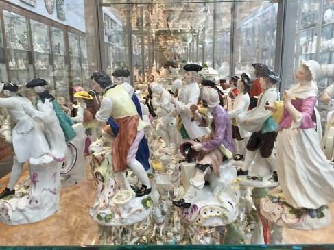 V&A Museum ceramics display
