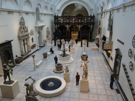V&A Museum view from above of gallery below