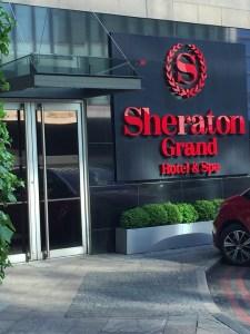 Driveway entrance Edinburgh Sheraton Hotel
