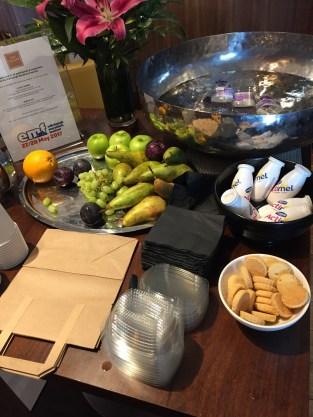 Edinburgh Sheraton Grand Hotel Snack table