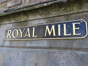 The Royal Mile of Edinburgh