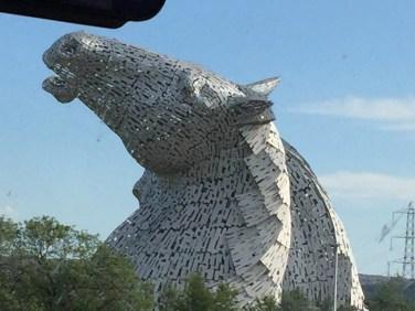Scottish Kelpies horse head sculptures