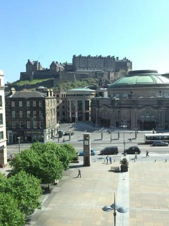 View of Edinburgh Castle from the Sheraon Grand Edinburgh