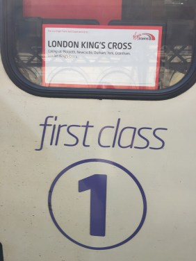 Virgin East Coast Train to London FIrst Class