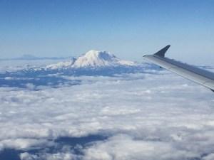 Seattle flights Mt. Rainier views from the plane