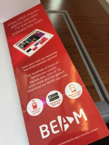 BEAM Virgin Trains app enterainment and free wifi