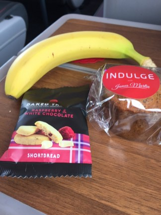 Virgin Train first class snacks train Edinburgh to London