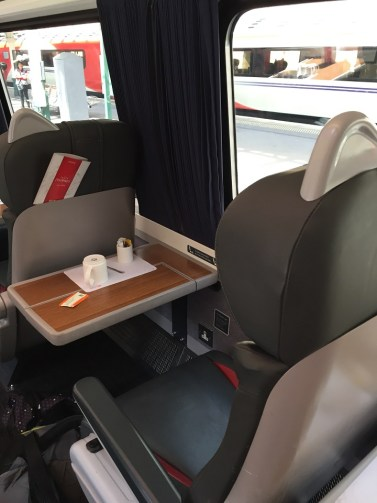 Virgin First Class Seat train Edinburgh to London