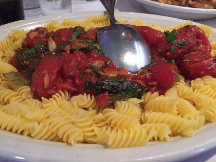Gluten free D.C. pasta at Carmine's