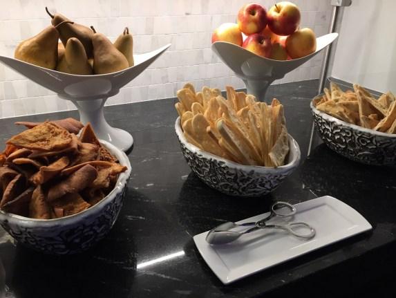 AMEX PHL Centurion Lounge food