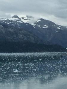 Glacier Bay Alaska view with Holland America Eurodam