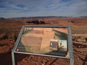 Horseshoe Bend Landscape View Info Board