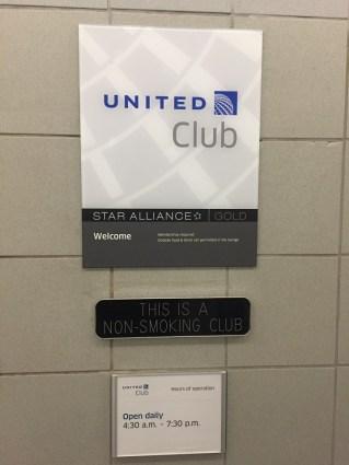 United Club PHL Lounge Hours