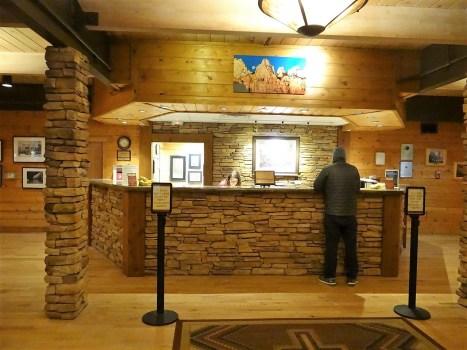 Zion Lodge Front Desk Check In