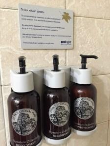 Zion Lodge toiletries