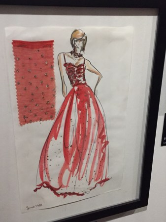 Princess Diana red ball gown sketch