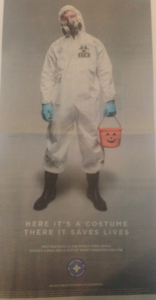 Ad appearing in USA Today October 30, 2014
