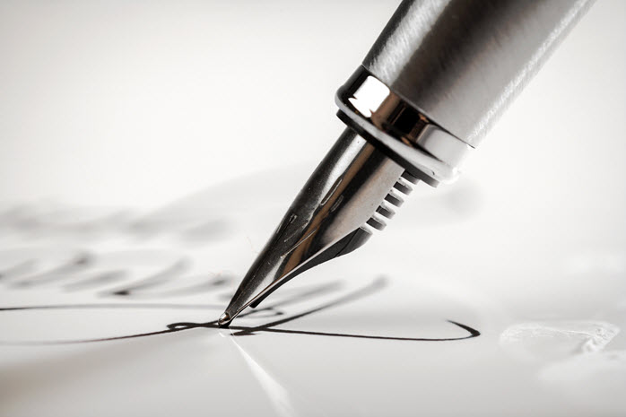 a pen is a powerful sales tool